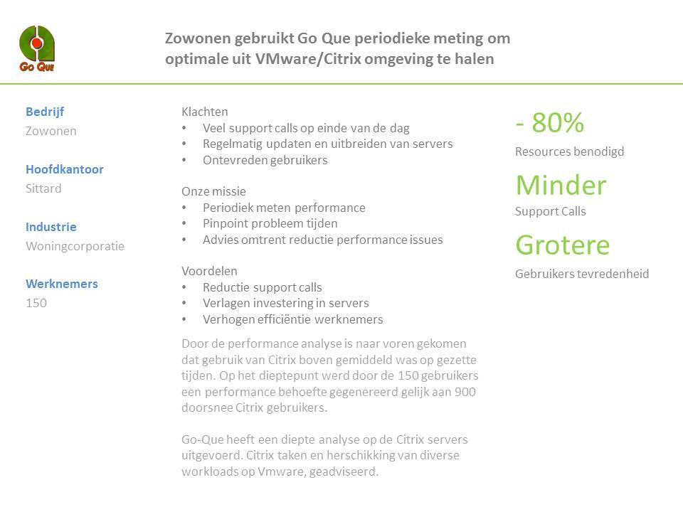 VMware/Citrix optimalisatie